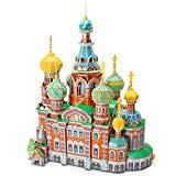 Offer for CubicFun 3D Cathedral Puzzles Russia Architecture Building Church Model Kits Toys for Adults, Savior On Spilled Blood