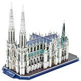 Offer for CubicFun 3D New York Cathedral Puzzles Architecture Building Model Kits Toys for Adults and Teens, St.Patrick's Cathedral