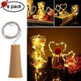 Offer for MEKBOK Wine Bottle Fairy Lights with Cork 3 Lighting Modes 6 Pack Copper Wire String Starry LED Lights for Bottle DIY, Party, Decor, Valentine's Day, Wedding � (3 Modes, Warm White)