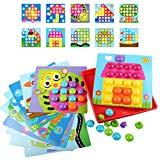 Offer for AMOSTING Color Matching Mosaic Pegboard Early Learning Educational Toys for Boys and Girls