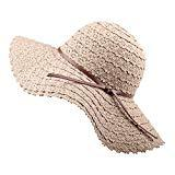 Offer for FURTALK Summer Beach Sun Hats for Women Foldable Floppy Lace Cotton Wide Brim Hat Caps