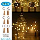 Offer for SFUN Wine Bottle Lights with Cork- 3 Dimmable Modes 6 Pack Battery Operated LED Silver Copper Wire Fairy String Lights for DIY, Party, Decor,Wedding