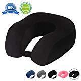 Offer for HERIGGA Travel Pillow Neck Memory Foam Portable Pillow for Airplanes Cars Buses Office U Shape Pillow with Velvet Cover