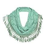 Offer for MissShorthair Womens Lightweight Lace Infinity Scarf with Tassels