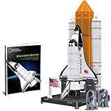 Offer for CubicFun National Geographic 3D Kids Puzzles Roket Ship Toys NASA Space Model Kits for Children and Teens with Booklet, DS0970h