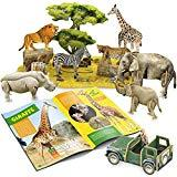Offer for CubicFun National Geographic 3D Kids Puzzles Animal Model Kits Toys with Booklet for Children Teens and Adults, African Wildlife