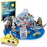 Offer for CubicFun National Geographic 3D Kids Ocean Puzzles Educational Model Kits Toys with Booklet for Children Teens and Adults, Undersea Adventure, DS0974h