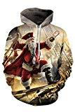 Offer for Kisscynest Unisex Ugly Christmas Hooded Sweatshirt Graphic Hoodies Pullover Christmas Father L
