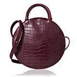 Offer for The Lovely Tote Co. Women's Fashion Crocodile Circle Crossbody Bag,Wine