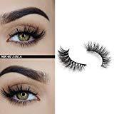 Offer for Demi Queen 100% 3D Siberian Mink Eyelashes Dramatic Handmade Reusable 3D Mink Fur Fake Eyelashes 1 Pair (MK02)