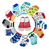 Offer for Yimaler 12-Pack Anti-Slip Cotton Baby Socks Cute Animal Printed Ankle Socks with Grip for 12-36 Months Kids Soft Cartoon Socks for Toddler Boys & Girls ...