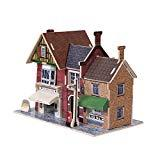 Offer for TORCH-CN 3D Puzzle Toys Architectural House Building Model Dollhouse Kits for Kids Children (British Clothing Store)