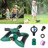 Offer for Morfone Lawn Sprinkler, Garden Sprinkler Automatic 360� Rotating Irrigation System Water Sprinklers for Garden, Yards, Kids, 3600 Square Feet Coverage