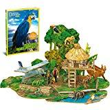 Offer for CubicFun National Geographic 3D Kids Puzzles Model Kits Toys with Booklet for Children Teens and Adults, Amazon Rain Forest kit, DS0979h