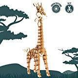 Offer for Rolife 3D Wooden Puzzle Wild Animal Toy-DIY Tiny Model Kit-Animal Action Figure-Assembly Jigsaw Puzzle-Home Decoration-Unique Birthday/Easter Day Gift for Daughter/Niece/Women/Girls/Boys(Giraffe)