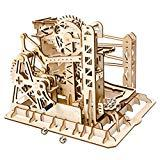 Offer for ROKR 3D Wooden Puzzle Adult Craft Model Building Set Mechanical Marble Run Games Home Decoration-Educational Toy for Christmas,Birthday Gift for Boys and Girls Age 14+(Magic Crush Lift Coaster)