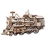 Offer for ROKR 3D DIY Wooden Puzzle - Self-Assembly Mechanical Model-Brain Teaser Game for Teens and Adults-Adult Craft Set-Unique Gift for Christmas, Birthday (Locomotive)