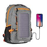 Offer for Sunnybag Explorer+ Solar Backpack | World's Strongest Solar Panel for Charging Smartphones and All USB-Devices on The go | 15L Volume and 15'' Laptop Compartment | Gray/Orange