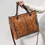 Offer for Top Handle Satchel Handbags, JOSEKO Women Retro Tote Bags Leather Crossbody Bags Large Capacity