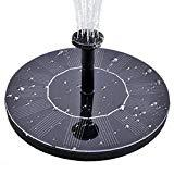 Offer for Solar Water Fountain for Bird Bath, Solar Fountain Water Pumps Freestanding Submersible for Small Pond,Fish Tank, Patio, Garden Decoration 1.4 W Solar Panel Water Pump Kit, Solar Pond Pump (AS10)