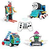 Offer for PETUOL 4 in 1 Remote Control Building Kits, 170PCS STEM Robot Toys for Boys Girls Age 5 6 7 8 9 10 Fun Building Blocks for Fire Truck Train Skier Duck Function Christmas