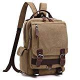 Offer for School Backpack, Vintage Travel Rucksack for Men/Women, Canvas College Book-bag Daypack (MG-8596-1-KI)