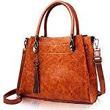Offer for Vegan Leather Women Handbags and Purses - Top-Handle and Shoulder Tote Bag with Tassel Charm