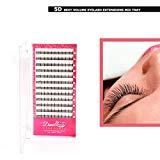 Offer for Demi Queen 5D Russian Premade Clusters Individual Volume Fans Eyelash Extensions Knot Free Flare Lashes 0.07mm C Curl 10-14mm Mixed Tray