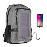 Offer for Sunnybag Explorer+ Solar Backpack | World's Strongest Solar Panel for Charging Smartphones and All USB-Devices on The go | 15L Volume and 15'' Laptop Compartment | Gray/Black