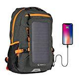 Offer for Sunnybag Explorer+ Solar Backpack | World's Strongest Solar Panel for Charging Smartphones and All USB-Devices on The go | 15L Volume and 15'' Laptop Compartment | Black/Orange