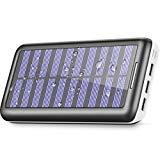 Offer for Power Bank Portable Solar Charger - 22000mAh with Dual Input & 3 USB Output Solar Charger, High-Speed Charging Technology Battery Pack for All the Phone