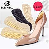 Offer for Basuwell Heel Pad Too Big Inserts Shoes Cushion (3 Pairs) Mat Blisters New Shoes Women's Beige-5mm