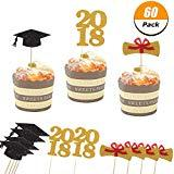 Offer for 60 Pack Graduation Cupcake Topper Bachelor Cap Cake Decorations 2018 Graduation Party Decorations Supplies