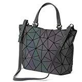 Offer for HotOne Geometric Luminous Purses and Handbags Shard Lattice Holographic Purse Fit 14
