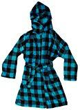 Offer for Just Love Plush Velour Buffalo Plaid Robes for Girls 75606-10195-TUR-5-6