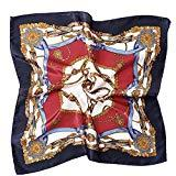 Offer for Women's Satin Silk Neckerchief Large Square Scarf Headscarf Headdress 19.7 Inch