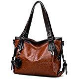 Offer for Vegan Leather Top Handle Women Handbag & Purse - Ladies Tote Hobo Bag