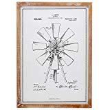 Offer for Barnyard Designs Windmill Patent Framed Sign Vintage Farmhouse Country Home Decor 22