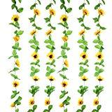 Offer for Sunrisee 2Pcs (17FT) Artificial Sunflower Garland Silk Fake Flower Ivy Vines Artificial Flowers for Hotel Wedding Home Party Garden Craft Art Decor