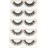 Offer for 3D Wispies False Eyelashes Long Lashes With Volume for Women's Make Up Bulk Extensions Handmade Soft Fake Eye lash,5 Pairs