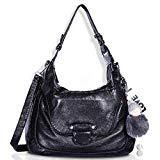 Offer for Angel Barcelo Fashion Satchel Purses and Handbags for Women Shoulder Tote Bags Black