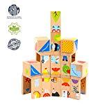 Offer for MEIGO Wooden Toys - Toddler Wooden Educational Preschool Dominoes Shape Puzzle Matching Game Building Blocks for Kids 1 2 3 4-5 Year Old Boys Girls (32PCS)
