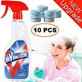 Offer for Multifunctional Effervescent Spray Cleaner Set with 1 Spray Bottle and 10PCS Fine Concentrated Solid All Purpose Effervescent Spray Cleaning (10pcs with Bottle) Summer Promotion Only 5 Days