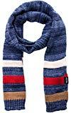 Offer for Wantdo Women's and Men's Cable Knit Wrap Stripes Scarf Blue