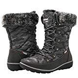 Offer for GLOBALWIN Women's Grey Winter Snow Boots 8M US