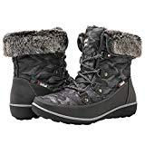 Offer for GLOBALWIN Women's Grey Winter Snow Boots 6M US