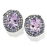Offer for Pinctore Platinum o/Silver 12.18ctw African Amethyst Studs Earring 0.81'L