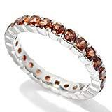 Offer for Pinctore Sterling Silver 2.72ctw Brown Zircon Eternity Band Ring, Size 7
