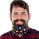 Offer for DecoTiny 20pcs Light Up Beard Ornaments, 16 Pcs Sounding Jingle Bells, 4 Pcs Beard Lights Beard Bauble Ornaments, Great Christmas and New Year Festival Gift for Friends Husband