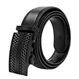 Offer for Ratchet Belt for Men, HIPPIH Men's Leather Belt with Automatic Buckle in Gift Box - 1 3/8 Wide, Waist: 20